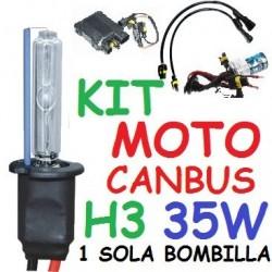 KIT XENON H3 35w CANBUS NO ERROR MOTO 1 BOMBILLA