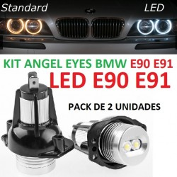 KIT ANGEL EYES LED AROS FARO BMW E90 E91 SERIE 3