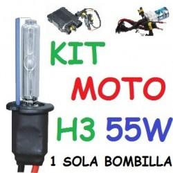 KIT XENON H3 55w (Alta Potencia) MOTO 1 BOMBILLA