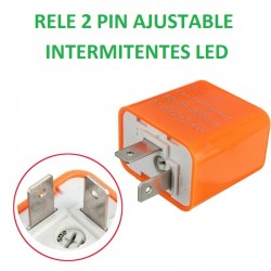RELÉ 2 Pin ajustable parpadeo intermitente LED MOTO