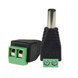 CONECTOR MACHO MINI JACK 2.1MM