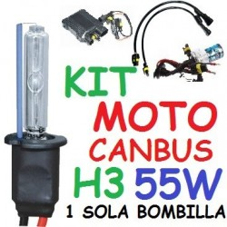 KIT XENON H3 55w CANBUS NO ERROR MOTO 1 BOMBILLA