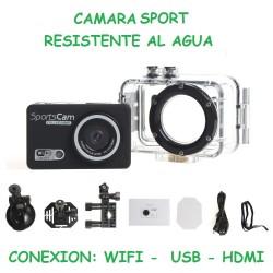 CAMARA SPORT RESISTENTE AL AGUA WiFi HDMI andorid ios iphone