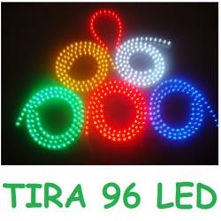 TIRA 96 LED 12V COCHE MOTO INTERIOR MALETERO RESISTENTE AL AGUA