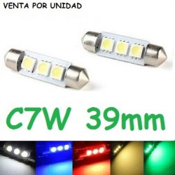BOMBILLA LED INTERIOR MATRICULA GUANTERA FESTOON C7W 39MM