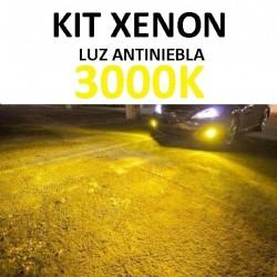 KIT XENON LUZ AMARILLA 3000K 35w (ESTANDAR) ANTINIEBLA COCHE
