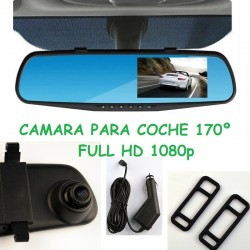 RETROVISOR CENTRAL CAMARA INTEGRADA FULL HD 1080P CAJA NEGRA