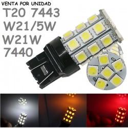 T20 W21/5W 27 LED BOMBILLA PARA COCHE 7443 580 7442 7440 W21W