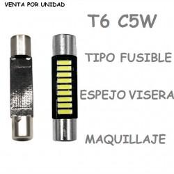 T6 C5W LED BOMBILLA PARA COCHE TIPO FUSIBLE ALARGADO