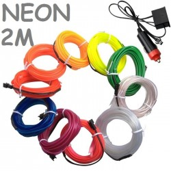 NEON FINO 2 METROS FLEXIBLE DECORACION COCHE