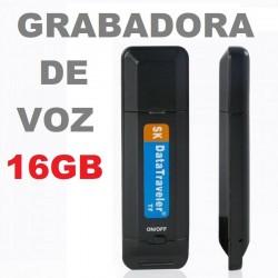 GRABADORA DE VOZ OCULTA REUNION GRABAR CONVERSACION 16GB