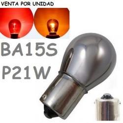 BOMBILLA S25 BA15s P21W 1156 12V21W COCHE CRISTAL TINTADO