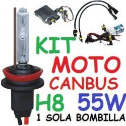 KIT XENON H8 55w CANBUS NO ERROR MOTO 1 BOMBILLA