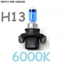 BOMBILLA H13 PJ264T 55W 60W TIPO XENON HALOGENA LUZ BLANCA 6000K COCHE
