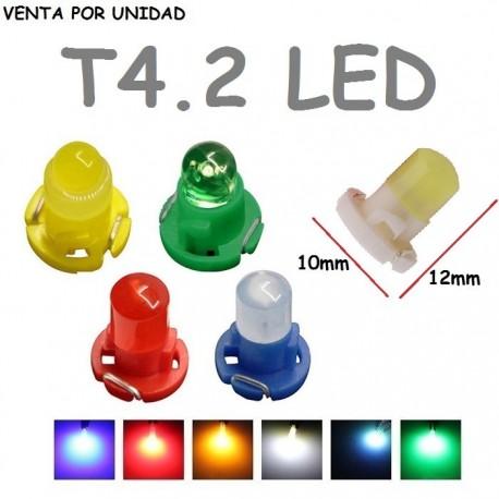 T4.2 LED BOMBILLA PARA COCHE LUZ DE FONDO MARCADOR