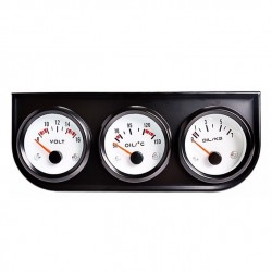 Stand Con 3 Relojes Voltios Temperatura Presión racing coche Gasolina