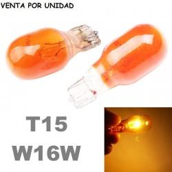 Bombilla T15 W16W Halógena Ámbar Intermitente de Cuña Coche Moto 12V
