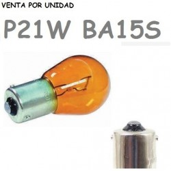 Bombilla S25 BA15s P21W 1156 12V21W Coche Ámbar Naranja