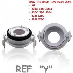 Adaptador Conversión Bombillas H7 Led y Xenon Ref. Y BMW E46