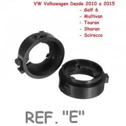 Adaptador Conversión Bombillas H7 Led y Xenon Tipo E VW Golf 6 Scirocco