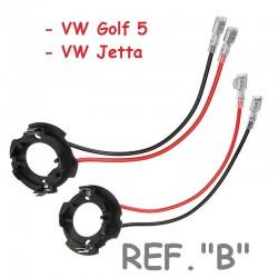 Adaptador Conversión Bombillas H7 Led y Xenon Tipo B VW Golf 5 Jetta