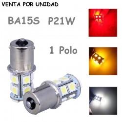 BOMBILLA ANTINIEBLA POSICION FRENO BAYONETA 13 LED BA15S P21W 1156 s25 UN POLO COCHE MOTO