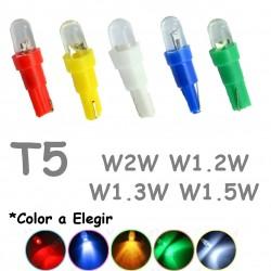 Bombilla Led T5 Tacómetro Chivato Reloj Coche Furgoneta W3W W1.2W W2.3W