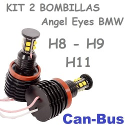 Kit Bombillas Led Angel Eyes o Antiniebla H8 H9 H11 2800 Lúmenes Coche