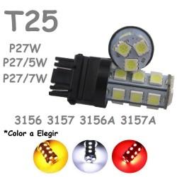T25 P27W - P27/7W 18 LED Bombilla para Coche 3156 3157 P27/5W Pilotos