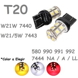 T20 W21W - W21/5W 13 LED Bombilla para Coche 7440 7443 580 Pilotos
