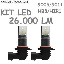 Kit Bombilla HB3 HIR1 H10 9005 9011 Led 26000 Lúm Sin Ventilador Coche