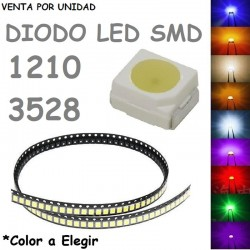Led Diodo 1210 3528 Para Mandos de Calefacción Radio Elevalunas Cuadro