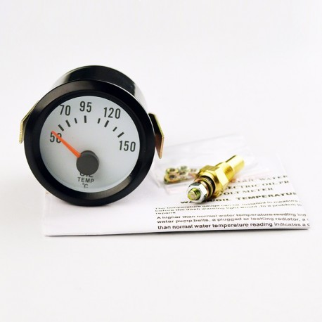Marcador Temperatura del Aceite Coche Reloj Universal Gasolina