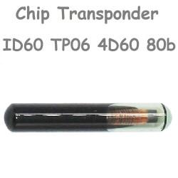 Chip de Cristal Trasponder ID60 TP06 T7 4D60 80 bits