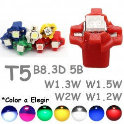 Bombilla Led T5 B8.3D BAX10S Marcador Tablero Salpicadero Chivato