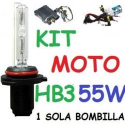 KIT XENON H9 55w (Alta Potencia) MOTO 1 BOMBILLA