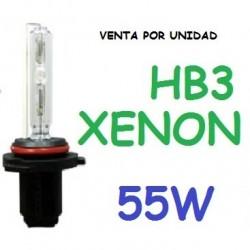 BOMBILLA HB3 9005 XENON 55W REPUESTO COCHE MOTO