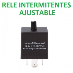 RELÉ 3 Pin ajustable parpadeo intermitente LED COCHE MOTO