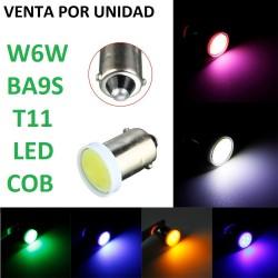 BOMBILLA LED POSICION TECHO INTERIOR T11 BA9S W6W BAYONETA PEQUEÑA LED CERAMICA