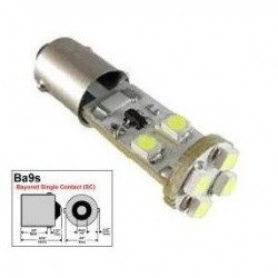 BOMBILLA LED CANBUS NO DA ERROR POSICION T11 W6W BA9S BAYONETA COCHE MOTO