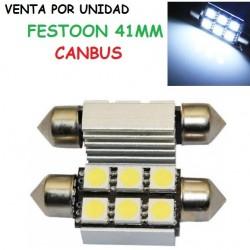 BOMBILLA LED MATRICULA CANBUS TIPO PLAFON C7W C5W