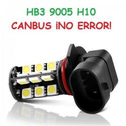 BOMBILLA LED ANTINIEBLA FARO CANBUS HB3 H10 9005 COCHE MOTO