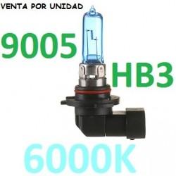 BOMBILLA HB3 9005 TIPO XENON LUZ BLANCA EFECTO 6000K COCHE MOTO