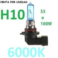 BOMBILLA H10 TIPO XENON LUZ BLANCA EFECTO 6000K COCHE MOTO