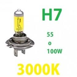 BOMBILLA HALOGENA H7 AMARILLA 3000k