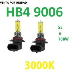 BOMBILLA HALOGENA HB4 9006 AMARILLA 3000k ANTI NIEBLA COCHE MOTO ANTINIEBLA