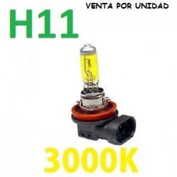BOMBILLA HALOGENA H11 AMARILLA 3000k
