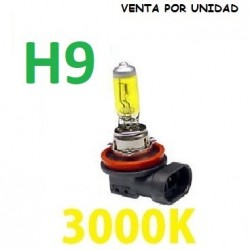 BOMBILLA HALOGENA H9 AMARILLA 3000k
