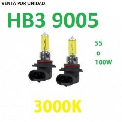 BOMBILLA HALOGENA HB3 9005 AMARILLA 3000k