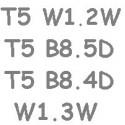 T5 B8.5D B8.4D W1.2W W1.3W